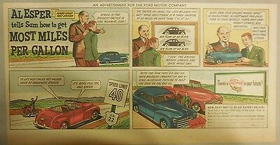 "Ford  Ad: "" Al Esper Tells Sam How To Get Most Miles Per Gallon""  from 1940's"