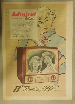 "Admiral Appliances Ad: New Admiral 17"" Clearest Picture in Television from 1951"