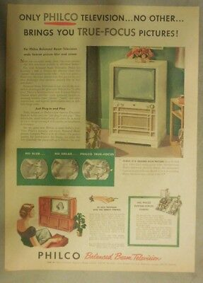 Philco Ad: Only Philco Television Brings You True Focus Pictures! from 1951