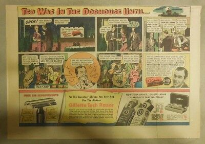 Gillette Razor Ad: Ted Was in Doghouse Until Shaving Romance! from 1940's
