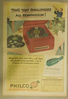 Philco Ad: Philco The Full Fidelity Phonograph! from 1951