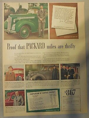 Packard Car Ad: 1920's - 1950's from Newspaper Magazine. 1940 Model Info
