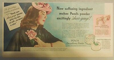 Pond's Ad: The Countess of Carnavaron: Smooth Pond's Powder!  from 1940's