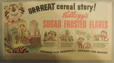 Kellogg's Cereal Ad: Frosted Flakes: Tony The Tiger! 1930's-1950's 7 x 15 inches