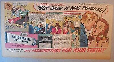 Listerine Toothpaste Ad: But Baby It Was Planned! 7.5 x 15 inch