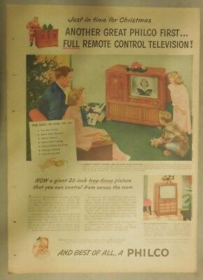 Philco Ad: Another Philco First! Full Remote Control Television! from 1950