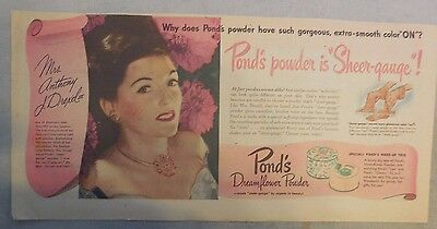 Pond's Ad: Mrs. George J. Gould : Smooth Pond's Powder!  from 1940's