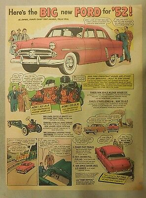 """Ford  Ad: """"Here Is The Big new Ford for 1952""""  from 1952"""