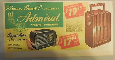 "Pleasure Bound? Take Along an Admiral ""Petite"" Portable from 1949"