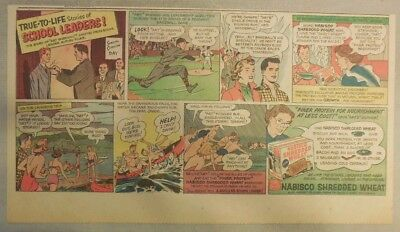 Nabisco Cereal Ad:True To Life School Leaders ! Shredded Wheats 1930's-1940's