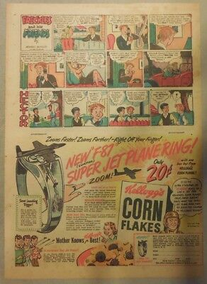 """Kellogg's Cereal Ad: """"Jet Plane Ring"""" Premium from 1948  7  x 10 inches"""