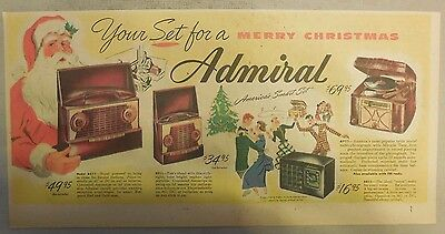 Admiral Radios and Phonographs: Your Set For A Merry Christmas from 1948