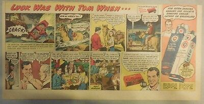 Gillette Razor Ad: Cow Girl Rescues Rafter, Shaving Romance ! from 1940's
