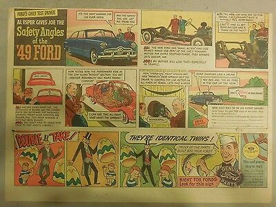 """Ford  Ad: """"Safety Angles of the 1949 Ford""""  from 1949"""
