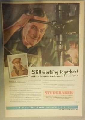Studebaker War Ad: Builder of Wright Cyclone Engines for Boeing Fortress 1943