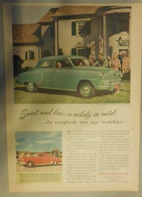 Studebaker Car Ad: Sweet And Low, A Melody In Metal Studebaker Commander 1947