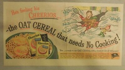 Cheerios Cereal Ad: Cheerioats Cereal by Steig  1930's-1940's 7.5 x 15 inches