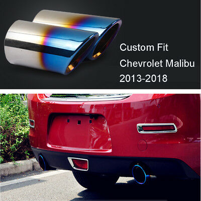 for BMW X1 F48 16-18 2pcs Blue stainless Exhaust Muffler Tail Pipe Tip Tailpipe