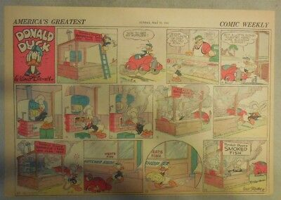 Donald Duck Sunday Page by Walt Disney from 5/31/1942 Half Page Size