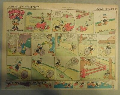 Donald Duck Sunday Page by Walt Disney from 5/17/1942 Half Page Size