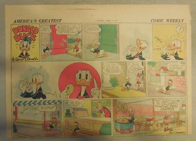 Donald Duck Sunday Page by Walt Disney from 4/5/1942 Half Page Size
