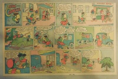 Jose Carioca Sunday Page #1 by Walt Disney from 11/1/1942 Rare! Half Page Size