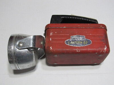 Vintage Red Eveready Lamp / Lantern No.61 **** Please Read ****