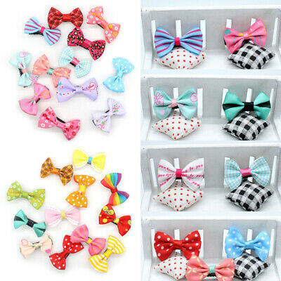 Cute Girls Baby Kids Hairpin Hair Clip Duckbill Bowknot Bow Accessories 10PCS