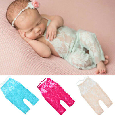 Newborn Baby Girl Photography Prop Lace Romper Jumpsuit Princess Clothes 0-3M E