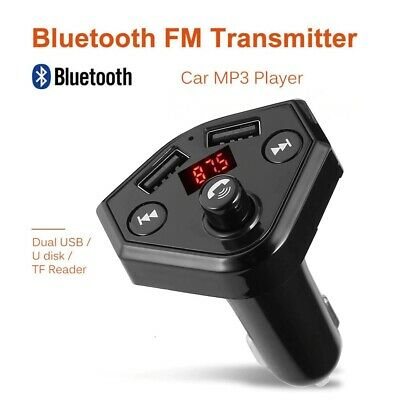 Wireless Bluetooth FM Transmitter Radio Auto Mp3 Musik Dual USB Freisprechanlage