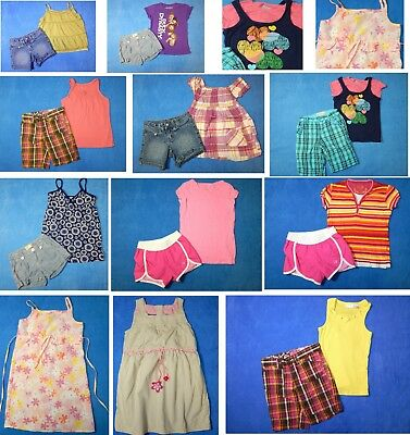 16 piece lot of nice clean girls Spring Summer Clothing size 6-7 Everyday 3s1