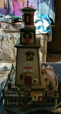 Department 56 Dickens' Village Series Lighthouse Queens Port AS IS REDUCED