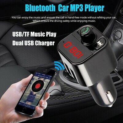 Bluetooth FM Transmitter Radio Car Mp3 Musik USB Charger TFcard CVC Technology