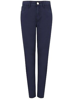 Ladies Tapered Chino Jeans Cotton M&S Soft Touch Ex Store Navy Size 10 to 20 New
