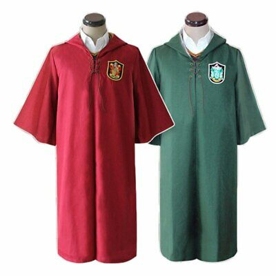 Harry potter mantello divisa quidditch grifondoro serpeverde cosplay costume