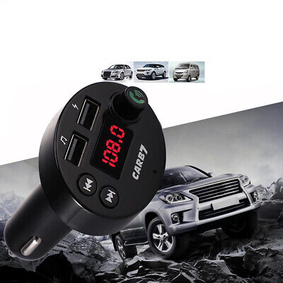 KFZ Bluetooth FM-Transmitter Auto Radio MP3 Dual USB TF-card A2DP 3.1A wireless