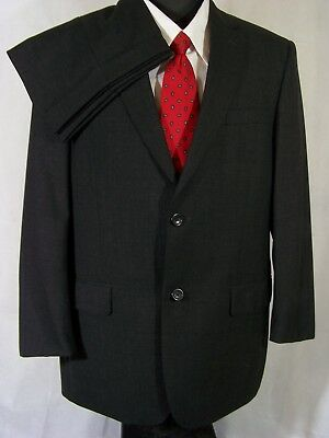 Joseph & Feiss Gold Suit Charcoal Gray Wool Mens 42R
