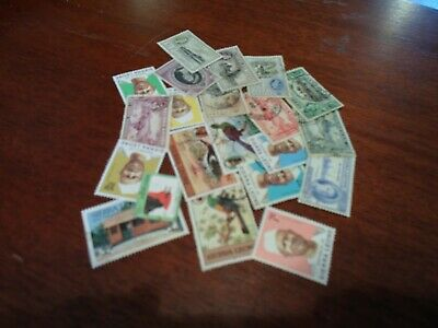 Collection lot 25 different stamps of Sierra Leone
