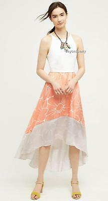 NEW Anthropologie Peachy High-Low Dress by Hutch  Size L & XL  $168