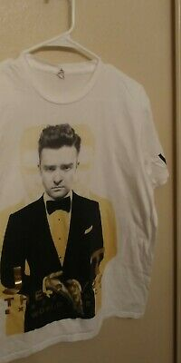 JUSTIN TIMBERLAKE (2013) 20/20 Experience World Concert Tour VIP T-Shirt Medium