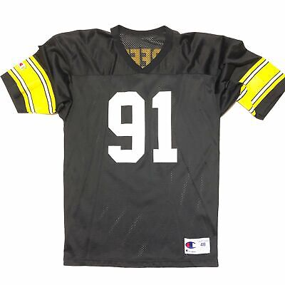 8add37ccf Vintage 90s Kevin Greene Pittsburgh Steelers Champion Jersey Black Size  X-Large