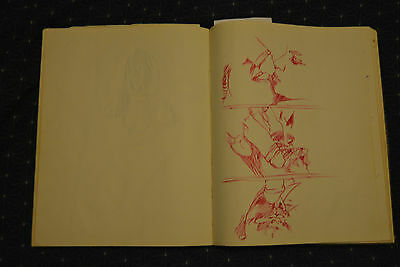 GREAT SIGNED c1976 RICHARD YARDE SKETCHBOOK!!!! ~~ AFRICAN AMERICAN ARTIST RARE!