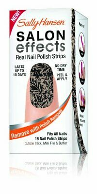 1pc Sally Hansen Salon Effects Real Nail Polish Strips, Laced Up, 16 Count
