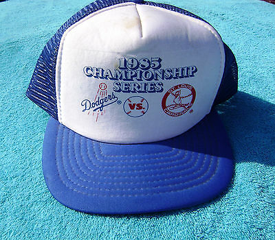 1985 NLCS Snapback Hat LA Los Angeles Dodgers vs St Louis Cardinals