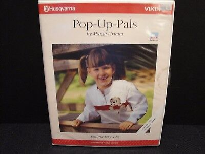 HUSQVARNA VIKING Embroidery Disc 129 Pop Up Pals Margit Grimm Animals Bugs