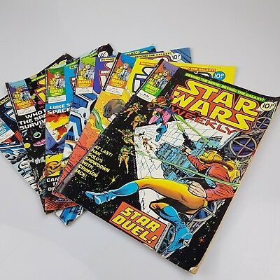 6x Vintage STAR WARS Weekly Comics Marvel UK Issues #30-32, 34-36 (1978)