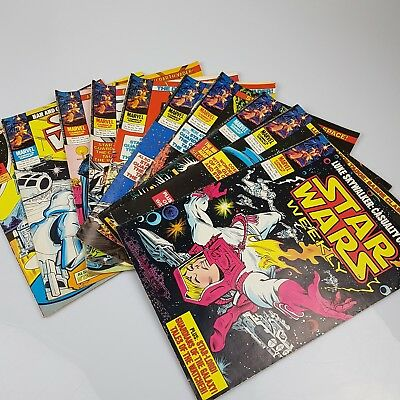 10x Vintage STAR WARS Weekly Comics Marvel UK Issues #80-89 (1979)