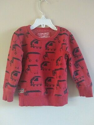 Next Boys Red Printed Jumper Lorrys 18-24 Months