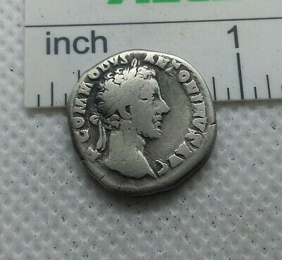 Original Ancient ROMAN SILVER COIN denarius imperator Commodus  138-161 AD. #621
