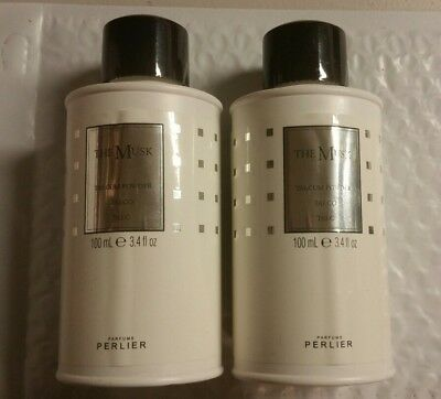 2 X Perlier The Musk, Talcum Powder, Full Size 3.4 Oz